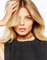 Asos Curb Chain Choker Necklace