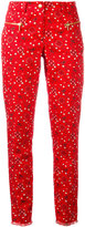 Michel Klein paisley print cropped trousers - women - Cotton/Spandex/Elastane - 36