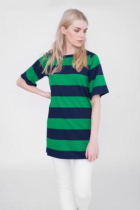 Beaumont Organic Savannah Striped Top - S - Green
