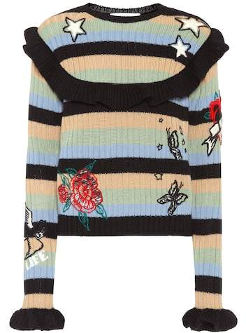 Valentino Embroidered wool sweater