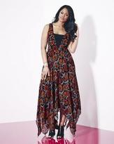 Grazia Floral Print V-Neck Hanky Hem Dress