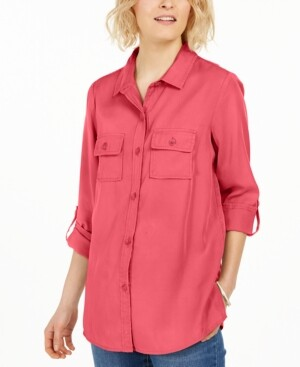 Charter Club Utility Shirt, Created for Macy's