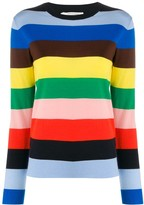 Chinti and Parker striped crew-neck pullover