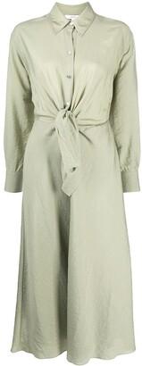 Vince Long-Sleeved Tie Waist Dress