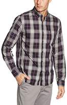 s.Oliver Denim Men's Hemd Extra Slim Fit 1/1 Long Sleeve Shirt, Grey-Grau (Steeple Grey Check 91N0)