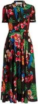 Valentino Tropical Dream-print crepe de Chine midi dress