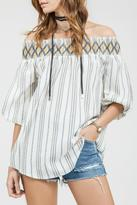 Blu Pepper Off The Shoulder Top