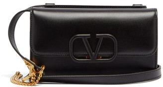 Valentino V-sling Small Leather Cross-body Bag - Womens - Black