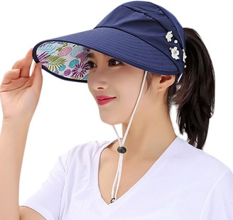 LAEMILIA Sun Hats for Women Cover up Shawls Wide Brim UV Protection Packable Visor Caps Womens Floppy Beach Coverups