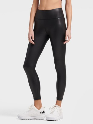 DKNY High Waisted Cropped Faux Leather Tight