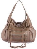 Botkier Zipper-Embellished Leather Hobo