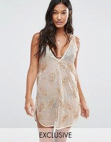 Wolfwhistle Wolf & Whistle Sequin Beach Dress