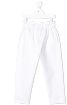 Il Gufo Distressed Straight-Leg Trousers