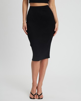 Tussah - Women's Black Pencil skirts - Carolina Knit Skirt - Size 16 at The Iconic