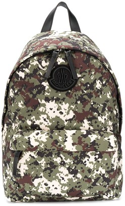 Moncler Camouflage Print Backpack