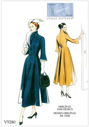 Vogue Women's High Collar Vintage Dress Sewing Pattern, 9280
