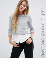 Noisy May Petite 2 In One Long Sleeved Sweater