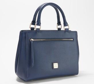 Dooney & Bourke Leather Saffiano Small Zip Satchel