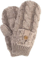 Muk Luks Women's Braided Cable Mittens