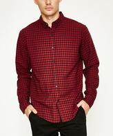 Arvust Marsden Long Sleeve Shirt Red Navy
