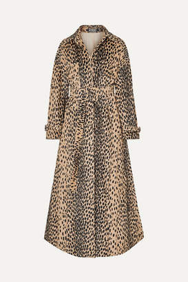 Jacquemus Thika Belted Leopard-print Cotton-blend Trench Coat - Leopard print