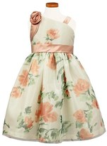 Sorbet Floral Mesh One-Shoulder Dress (Toddler Girls, Little Girls & Big Girls)