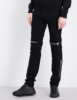 Givenchy Distressed straight-leg skinny jeans