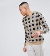 Asos TALL Check Sweater In Tan