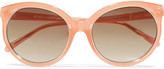 Linda Farrow Cat-eye acetate sunglasses