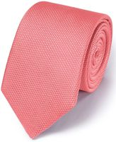 Charles Tyrwhitt Coral Silk Plain Classic Tie Size OSFA