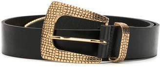B-Low the Belt Textured Metal Details Belt