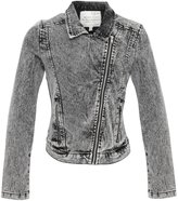 Brave Soul Womens/Ladies Ria Denim Biker Jacket