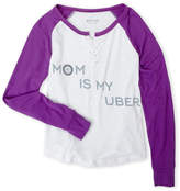 Butter Shoes Girls 7-16) Mom Is My Uber Raglan Top