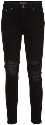 Amiri Distressed Detail Ribbed Knee Skinny Jeans