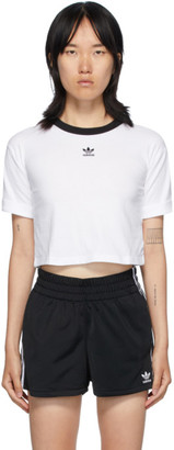adidas White Logo Crop T-Shirt