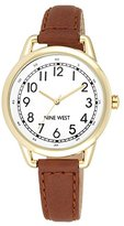 Nine West Women's NW/1698WTBN Easy-to-Read Gold-Tone Watch