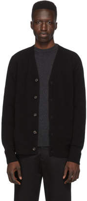 Norse Projects Black Lambswool Adam Cardigan