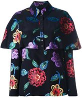 Burberry floral print blouse - women - Silk/Metallic Fibre - 40