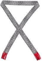 Haider Ackermann fringed printed scarf