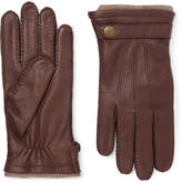 Dents Gloucester Cashmere-lined Leather Gloves - Brown