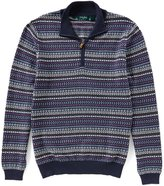 Bobby Jones Fair Isle 1/4 Zip Pullover Sweater