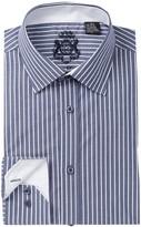 English Laundry Stripe Trim Fit Dress Shirt