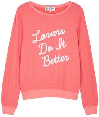 Wildfox Couture Lovers Do It Better jersey sweatshirt