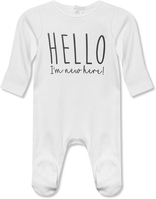 M&Co Hello I'm New Here sleepsuit (0-12mths)