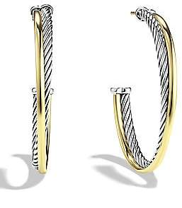 David Yurman Women's Crossover Extra-Large Hoop Earrings with Gold