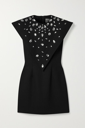 Christopher Kane Crystal-embellished Crepe Mini Dress - Black