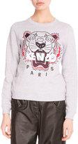 Kenzo Light Brushed Cotton Tiger Sweatshirt, Light Gray