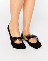 Asos Pop Sock With Oversized Organza Bow Detail