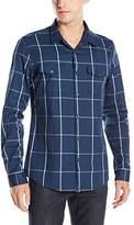 GUESS Men's Clover Check Shirt