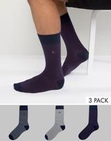 Jack Wills Alandale Stripe 3 Pack Socks